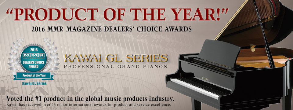 "Kawai GL Series Voted ""Product of the Year"" by the readers of MMR Magazine."
