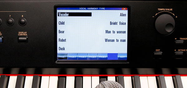 CP Series Digital Piano Microphone Input