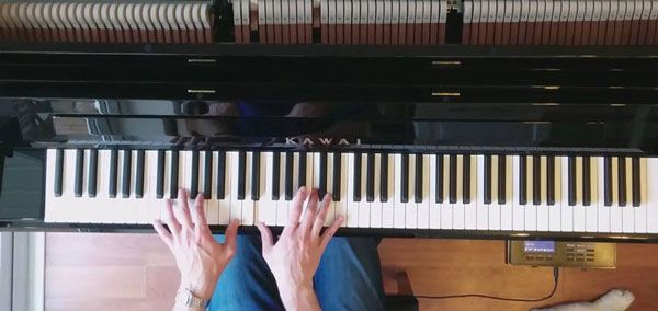 Kawai AnyTime Upright Piano Playing