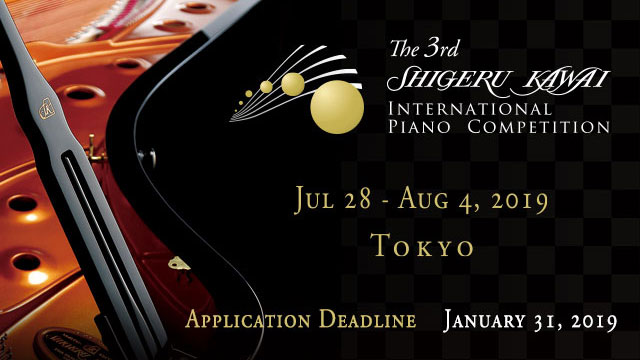 Application for the 3rd Shigeru Kawai Piano Competition is