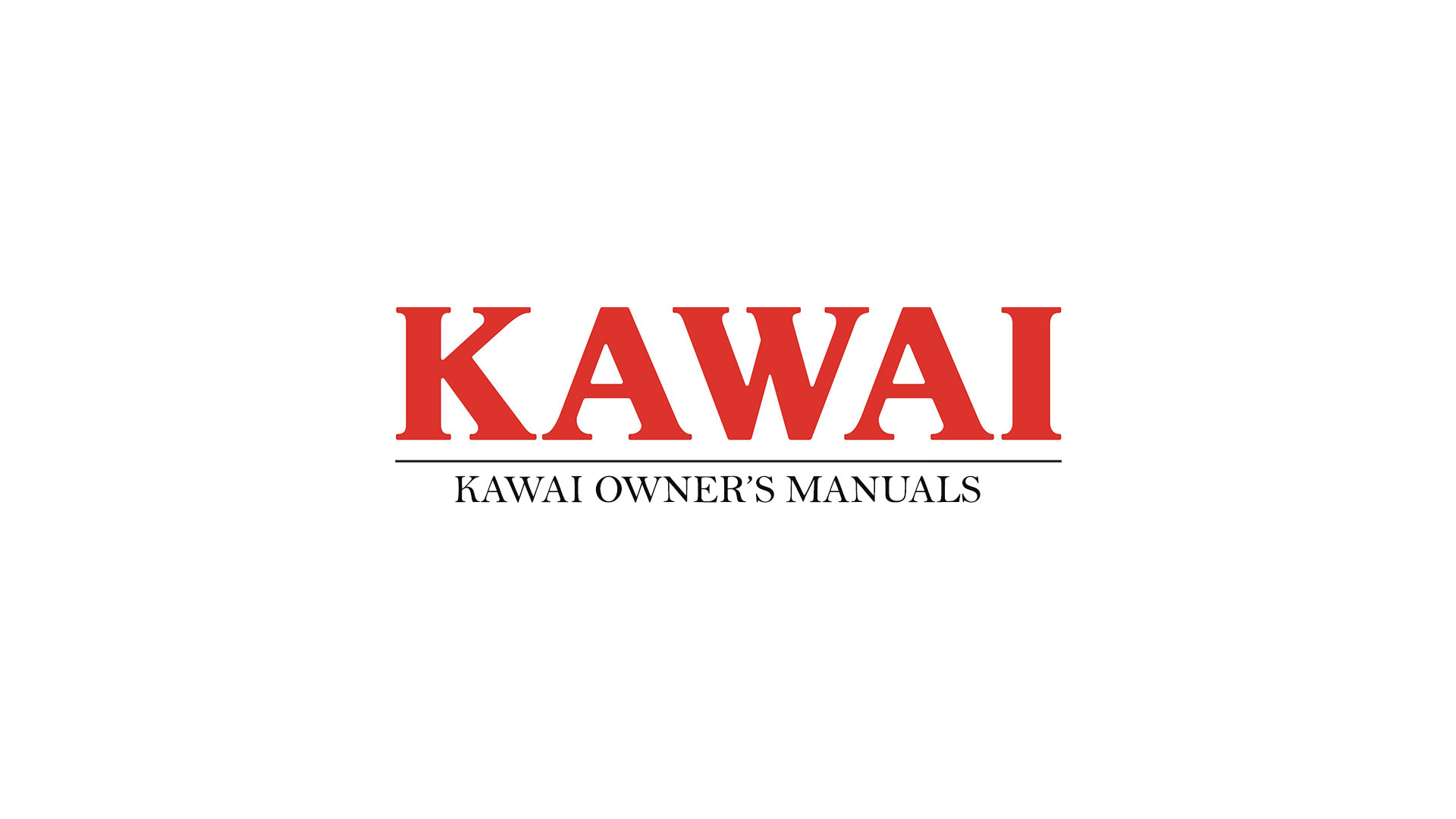 Kawai Piano Owners Manuals