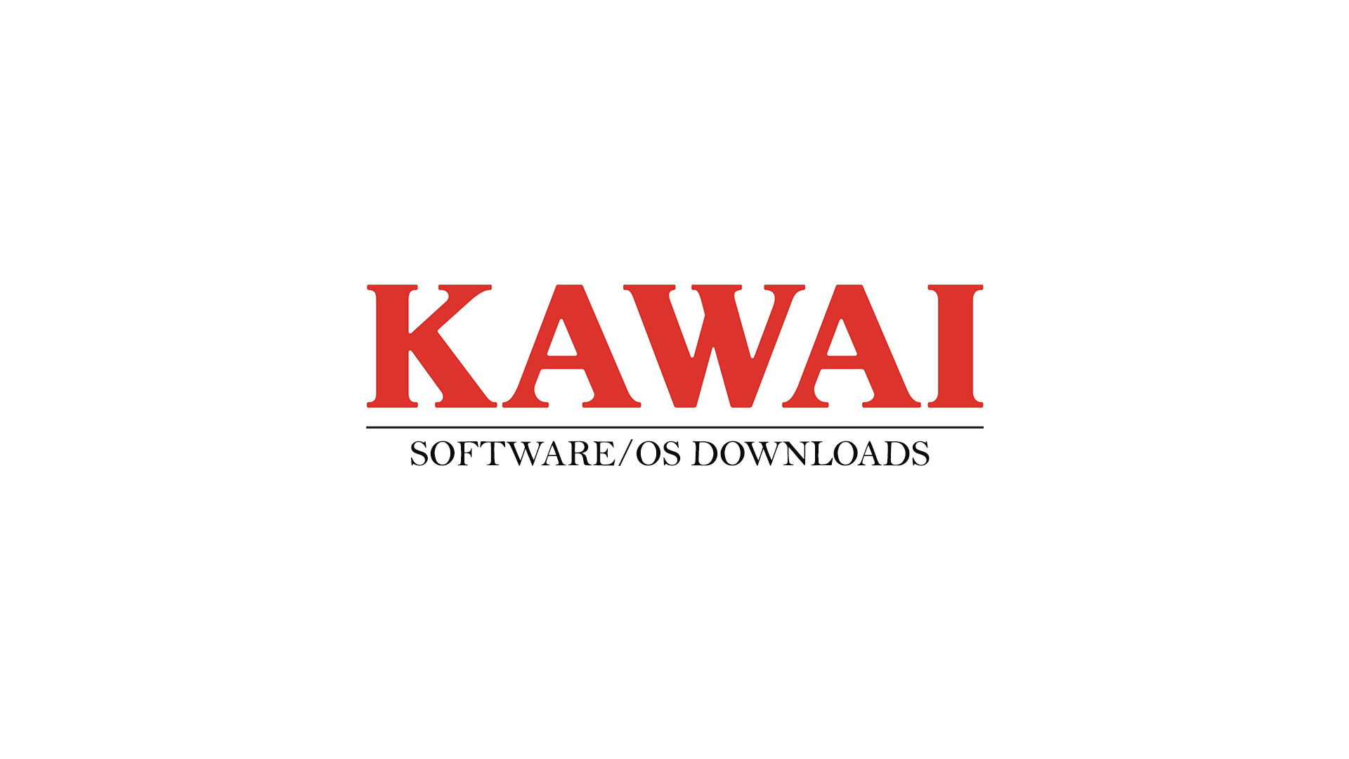 Kawai Software OS Downloads